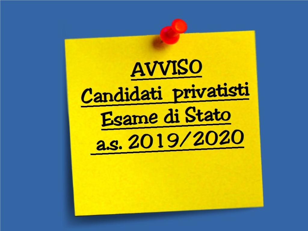 AVVISO Candidati Privatisti Esami di Stato 2019-2020 - Is Galileo ...